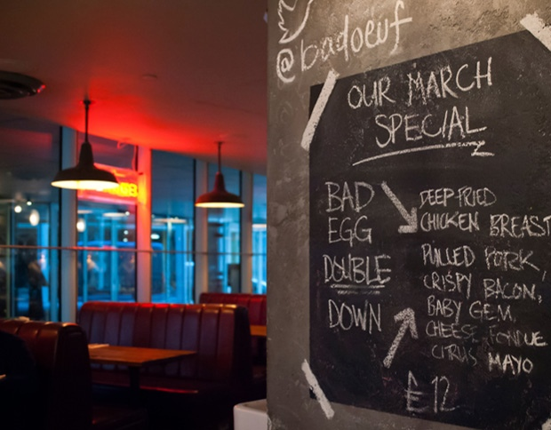 Bad Egg Moorgate interior specials wall